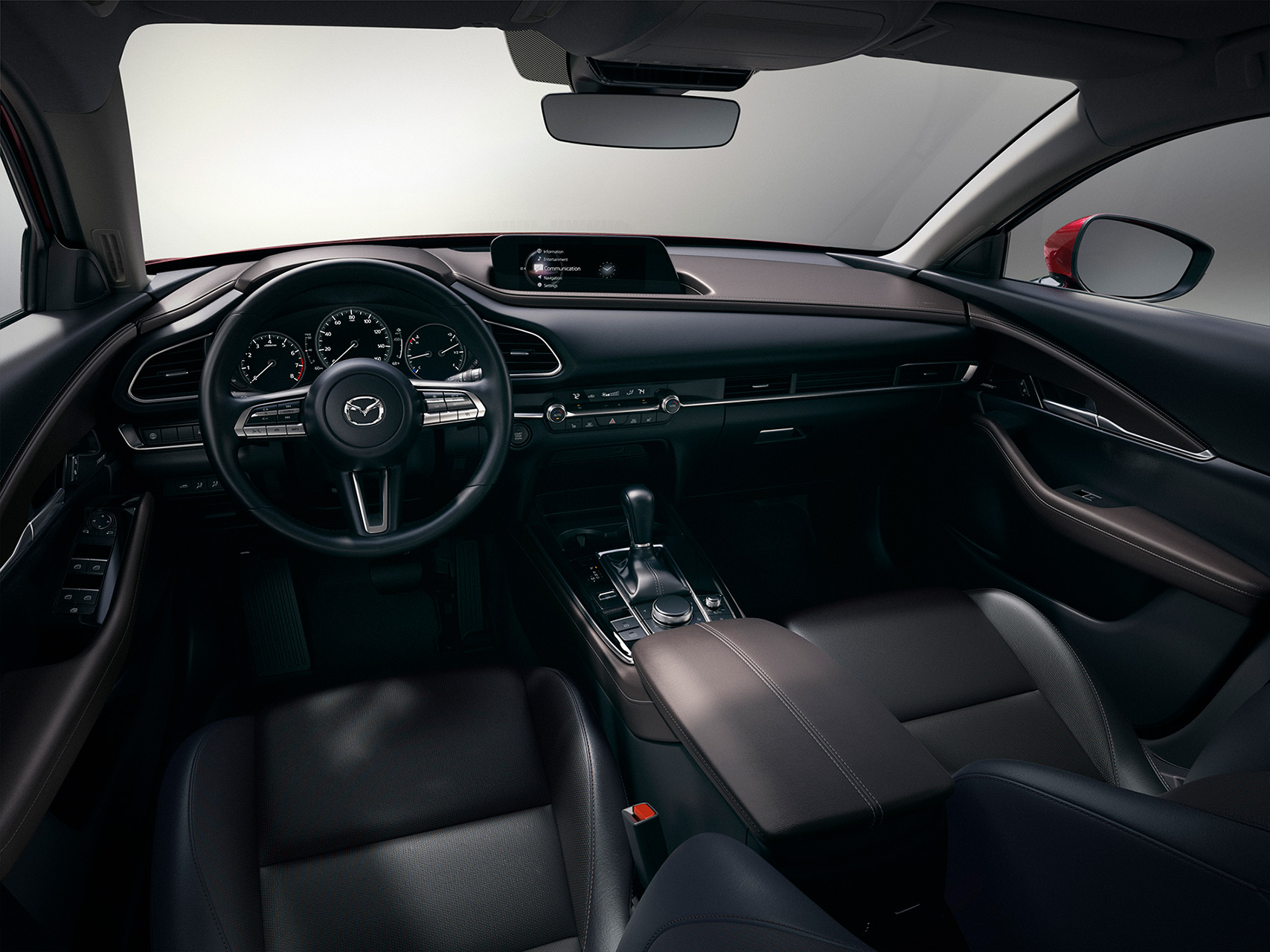 2019_CX-30_US(LHD)_C18_Cockpit_Dside_BlackLeather